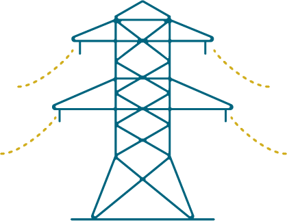 How it works powerlines icon
