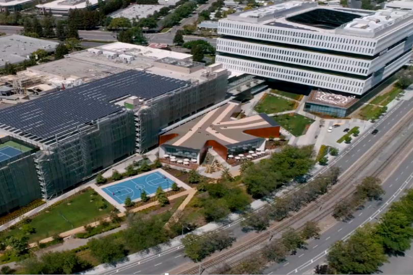 Photo of Samsung's San Jose campus